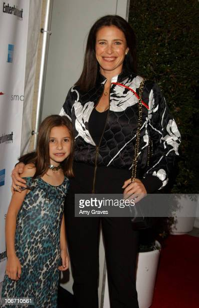Mimi Rogers and daughter during 2003 Smashbox Fashion Week Los Angeles Alvin Valley Spring Collection 2004 Arrivals and Backstage at Smashbox Studios...