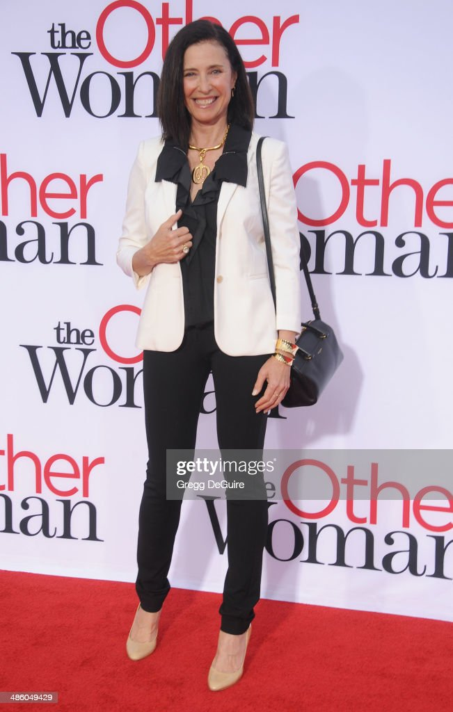 <a gi-track='captionPersonalityLinkClicked' href=/galleries/search?phrase=Mimi+Rogers&family=editorial&specificpeople=214183 ng-click='$event.stopPropagation()'>Mimi Rogers</a> arrives at the Los Angeles premiere of 'The Other Woman' at Regency Village Theatre on April 21, 2014 in Westwood, California.