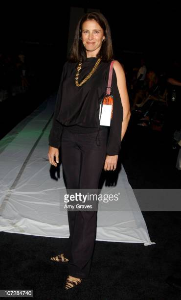 Mimi Rogers during 2003 Smashbox Fashion Week Los Angeles Susana Mercedes Spring Collection 2004 Backstage at Smashbox in Culver City California...