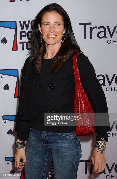 Mimi Rogers during 2005 World Poker Tour Invitational Arrivals at Commerce Casino in City of Commerce California United States