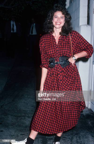 Mimi Rogers during Mimi Rogers Sighted at Spago Restaurant in West Hollywood October 31 1985 at Spago Restaurant in West Hollywood California United...