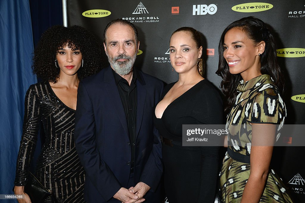 Mimi Sommer, Bruce Sudano, Amanda Sudano, and <a gi-track='captionPersonalityLinkClicked' href=/galleries/search?phrase=Brooklyn+Sudano&family=editorial&specificpeople=677792 ng-click='$event.stopPropagation()'>Brooklyn Sudano</a> arrive at the 28th Annual Rock and Roll Hall of Fame Induction Ceremony at Nokia Theatre L.A. Live on April 18, 2013 in Los Angeles, California.
