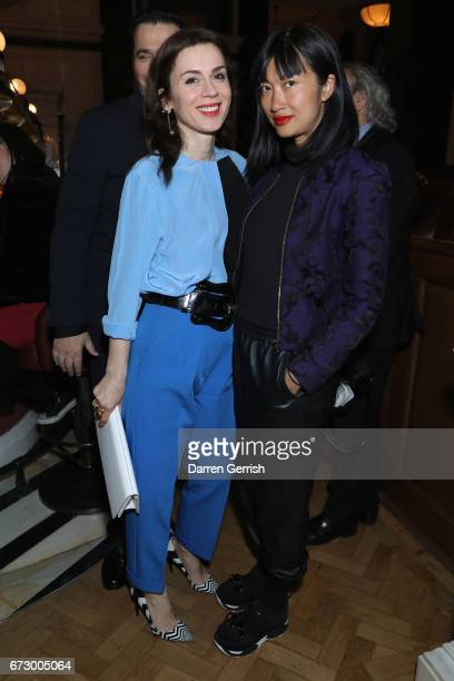 Mimi Xu and Lara Bohinc attend Roland Mouret's The Dinner of Love at Cecconi's a preopening dinner at The Ned on April 25 2017 in London England