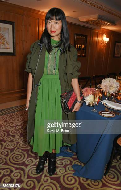 Mimi Xu attends a private dinner following the Warrior Games Exhibition VIP Preview hosted by HRH Princess Eugenie Waris Ahluwalia and Sylvie...
