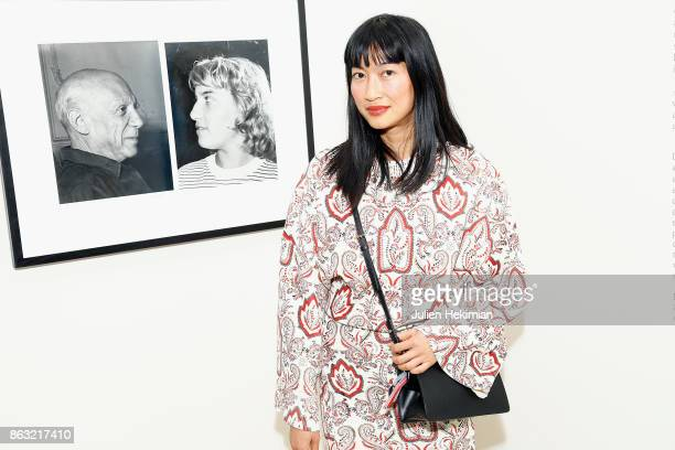 Mimi Xu attends 'Picasso and Maya Father and Daughter' Exhibition Curated By Diana Widmaier Picasso at Gagosian Paris on October 19 2017 in Paris...