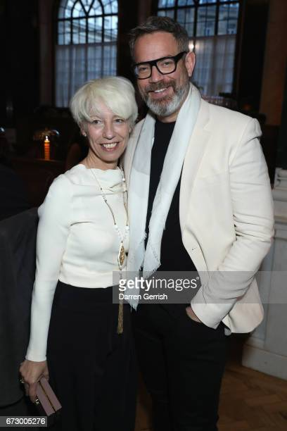 Mimma Viglezio and Daniel Marks attend Roland Mouret's The Dinner of Love at Cecconi's a preopening dinner at The Ned on April 25 2017 in London...