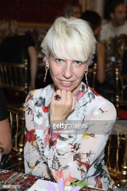 Mimma Viglezio attends Giampiero Bodino's 'Beauty Is My Favourite Colour' cocktails and dinner evening at Spencer House on October 11 2017 in London...