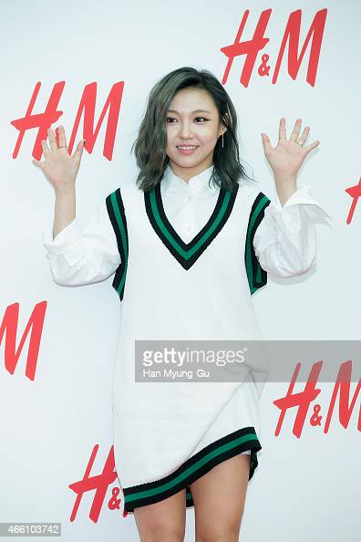 Min of girl group Miss A attends the opening event for HM YeongDeungPo Times Square at Yeongdeungpo Times Square on March 13 2015 in Seoul South Korea