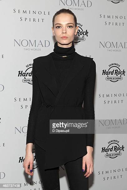 Mina Cvetkovic attends the'Seminole Spirit' Art Exhibition Party at Stephen Weiss Studio on February 17 2015 in New York City