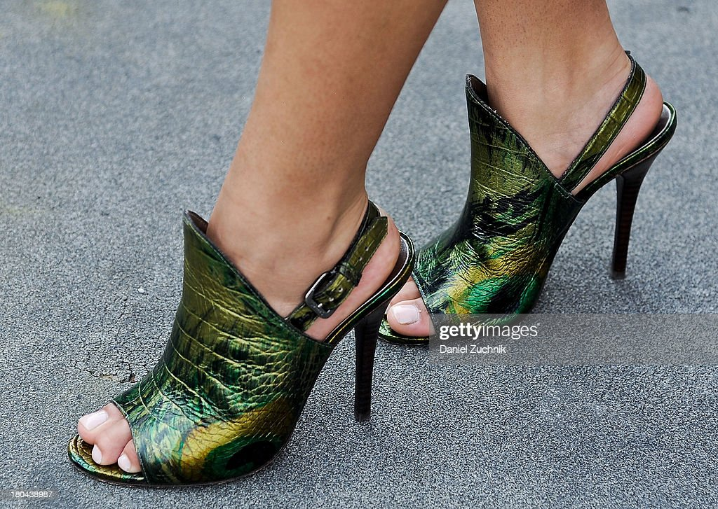 Mina K. Robertson(heels detail) is seen outside the Ralph Lauren show on September 12, 2013 in New York City.