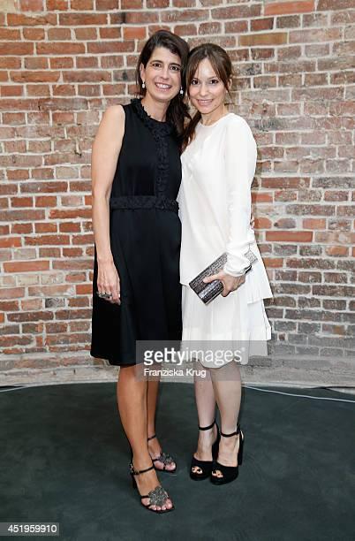 Mina Tander and Dorothee Schumacher attend the Schumacher show during the MercedesBenz Fashion Week Spring/Summer 2015 at Sankt Elisabeth Kirche on...