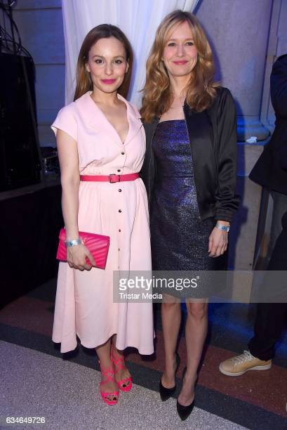 Mina Tander and Stefanie Stappenbeck attend the Blue Hour Reception hosted by ARD during the 67th Berlinale International Film Festival Berlin on...