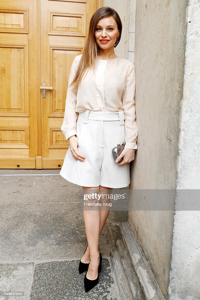<a gi-track='captionPersonalityLinkClicked' href=/galleries/search?phrase=Mina+Tander&family=editorial&specificpeople=2321930 ng-click='$event.stopPropagation()'>Mina Tander</a> attends the Dorothee Schumacher show during the Mercedes-Benz Fashion Week Berlin Spring/Summer 2017 at Elisabethkirche on June 29, 2016 in Berlin, Germany.