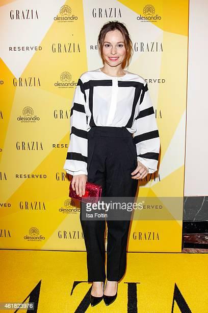 Mina Tander attends the GRAZIA POP UP Breakfast on January 20 2015 in Berlin Germany