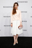 Mina Tander attends the Reserved Let's Fashion Party at the MercedesBenz Fashion Week Spring/Summer 2015 at Alte Muenze on July 10 2014 in Berlin...