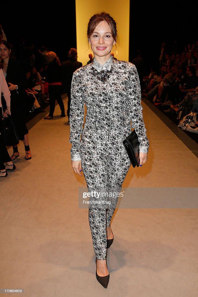 Mina Tander attends the Schumacher Show during Mercedes-Benz Fashion Week Spring/Summer 2014 at the Brandenburg Gate on July 4, 2013 in Berlin, Germany.