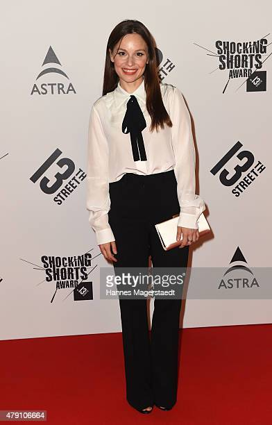 Mina Tander attends the Shocking Shorts Award 2015 during the Munich Film Festival on June 30 2015 in Munich Germany