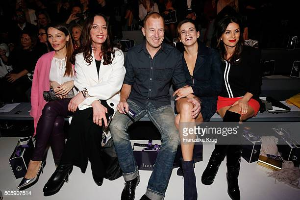 Mina Tander Natalia Woerner Heino Ferch Marie Jeanette Ferch and Viktoria Lauterbach attend the Laurel show during the MercedesBenz Fashion Week...