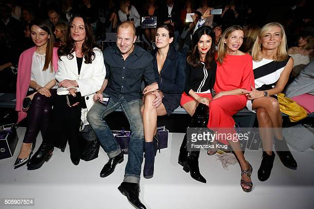 Mina Tander Natalia Woerner Heino Ferch Marie Jeanette Ferch Viktoria Lauterbach Ursula Karven and Judith Milberg attend the Laurel show during the...