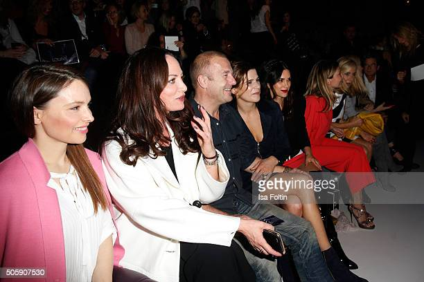 Mina Tander Natalia Woerner Heino Ferch Marie Jeanette Ferch Viktoria LauterbachUrsula Karven and Judith Milberg attend the Laurel show during the...