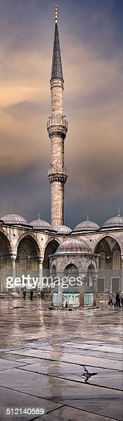 Minar of the Blue Mosque, Istanbul, Turkey