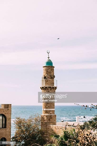 Minaret in old town Jaffa