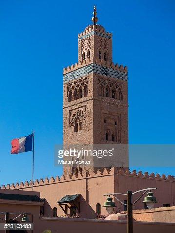 Minaret of the Koutoubia Mosque, Medina, Marrakech, Marrakech-Tensift-Al Haouz, Morocco