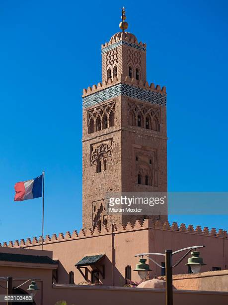 Minaret of the Koutoubia Mosque, Medina, Marrakech, Marrakech-Tensift-Al Haouz, Morocco