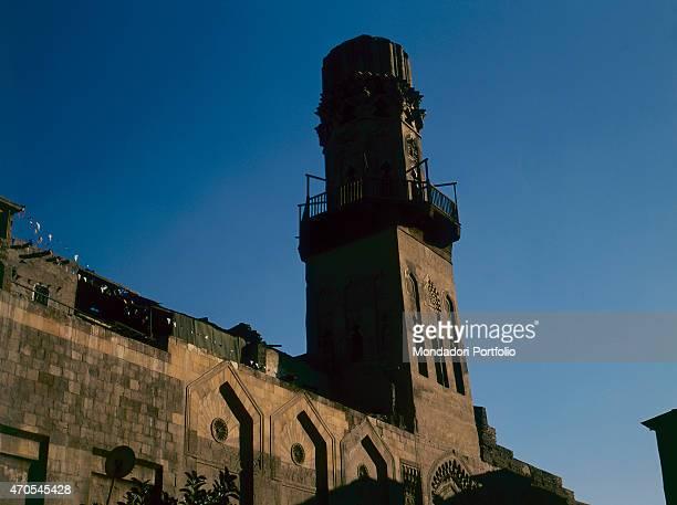 'Minaret of the Salihiyya MosqueMadrasa by Mamluk craftsmen 12401249 13th Century sandstone Egypt Cairo Whole artwork view The massive minaret whose...