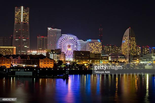 Minato Mirai 21 district of Yokohama at night