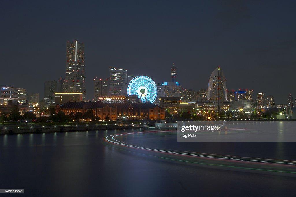 Minato mirai night view : Stock Photo
