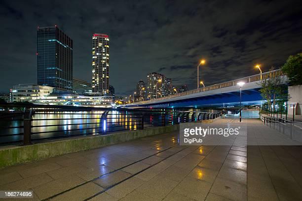 Minatomirai Ohashi Bridge at midnight