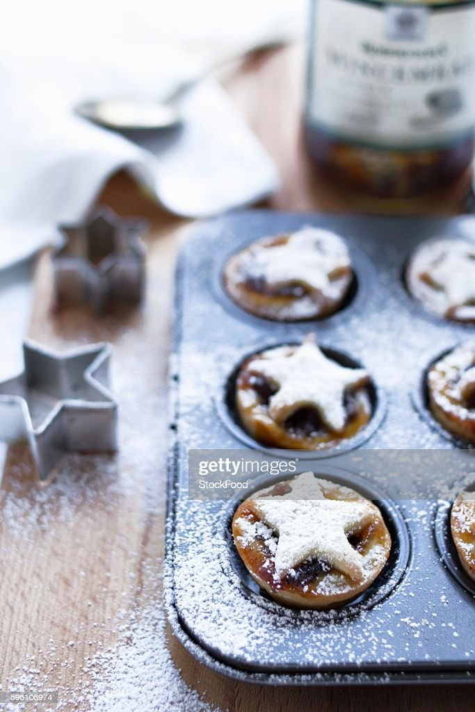 Mince pies in the baking tin