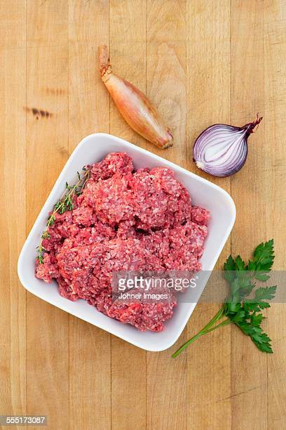 Minced meat in bowl