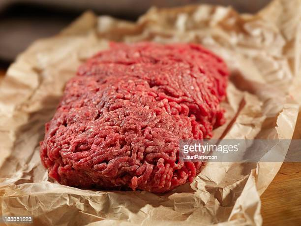 Minced Meat in Butcher Paper