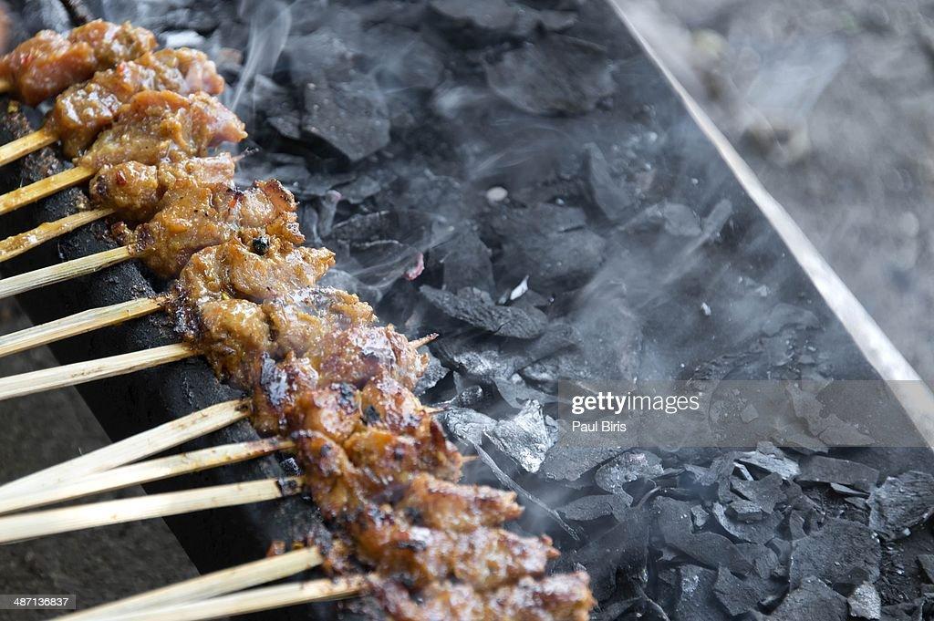 Minced pork satay Sate lilit bali : Stock Photo