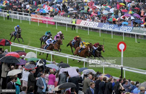 Mind of Madness ridden by Jamie Spencer wins the Julia Graves Roses Stakes during Day Four of the 2014 Welcome To Yorkshire Ebor Festival at York...