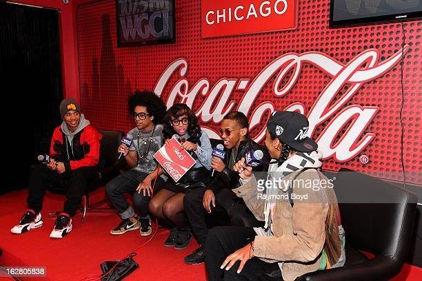 Mindless Behavior are interviewed by onair personality Demi Lobo in the WGCIFM 'CocaCola Lounge' in Chicago Illinois on FEBRUARY 24 2012