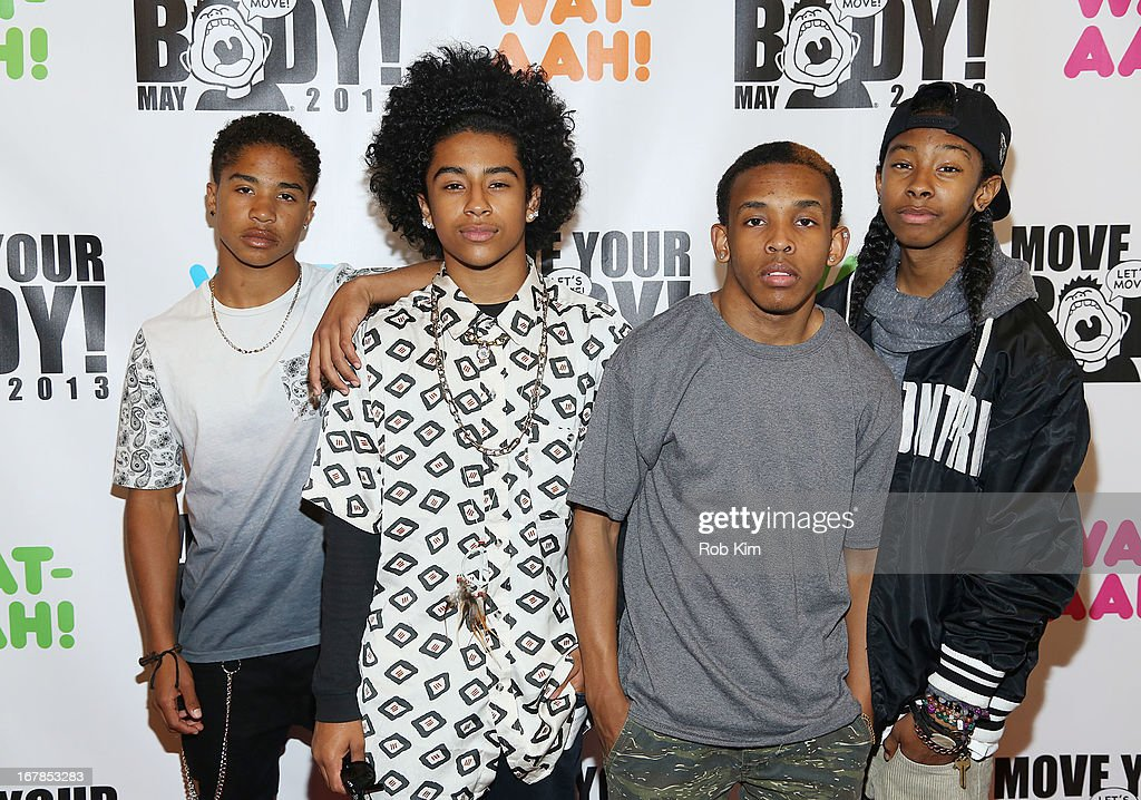 Mindless Behavior attends WAT-AAH! Foundation Move Your Body 2013 Flash Workout at The Avenues World School on May 1, 2013 in New York City.