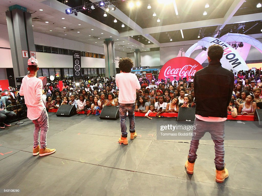 <a gi-track='captionPersonalityLinkClicked' href=/galleries/search?phrase=Mindless+Behavior&family=editorial&specificpeople=7071497 ng-click='$event.stopPropagation()'>Mindless Behavior</a> performs at the Coke music studio during the 2016 BET Experience on June 25, 2016 in Los Angeles, California.