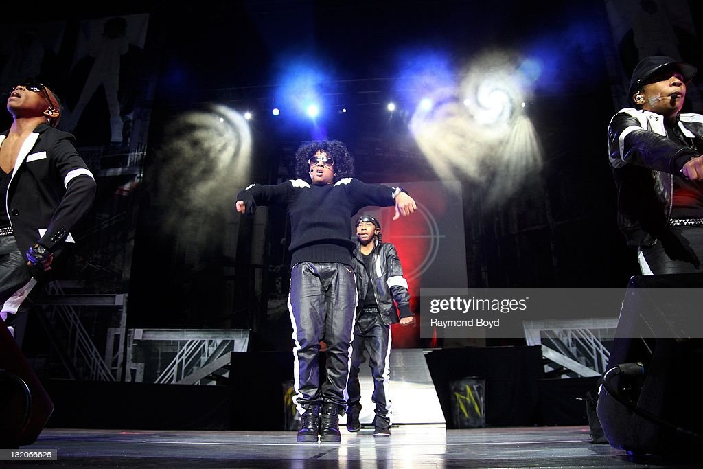 Mindless Behavior performs during the 'Scream Tour The Next Generation' at the Arie Crown Theater in Chicago Illinois on OCTOBER 28 2011
