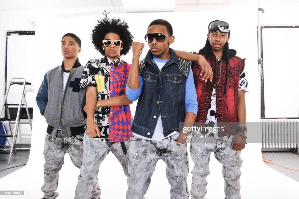 Mindless Behavior pose during a portrait session at John Ricard Studio on March 12 2013 in New York City
