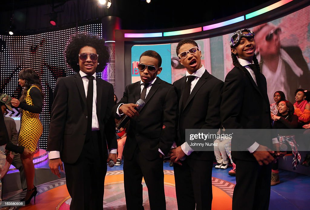 <a gi-track='captionPersonalityLinkClicked' href=/galleries/search?phrase=Mindless+Behavior&family=editorial&specificpeople=7071497 ng-click='$event.stopPropagation()'>Mindless Behavior</a> visits BET's '106 & Park' at BET Studios on March 11, 2013 in New York City.