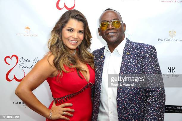 Mindy Burbano Stearns and Randy Jackson attend the 2017 Open Hearts Gala at SLS Hotel on October 21 2017 in Beverly Hills California
