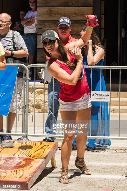 Mindy Campbell attends the Craig Campbell celebrity cornhole challange on June 7 2016 in Nashville Tennessee