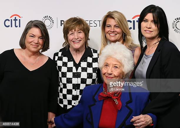 Mindy Cohn Geri Jewell Lisa Whelchel Charlotte Rae and Nancy McKeon attend the 2014 PaleyFestFall TV Previews Fall Flashback 'The Facts Of Life' 35th...
