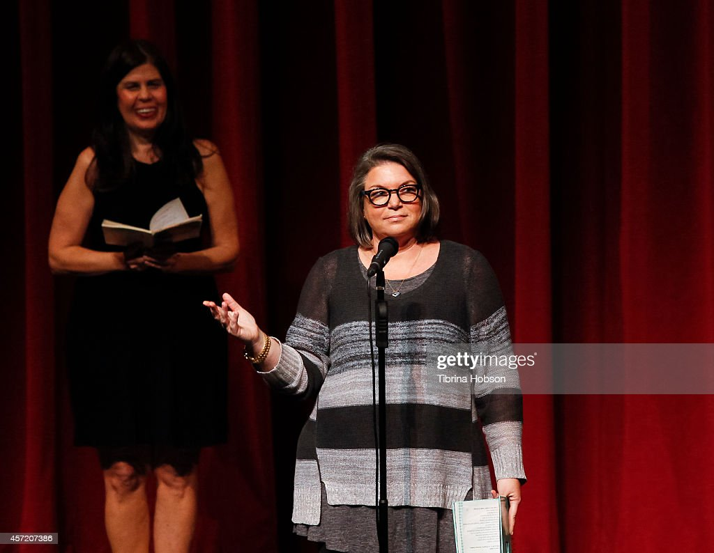 Mindy Cohn performs at the 'Celebrity Autobiography show' at El Portal Theatre on October 13 2014 in North Hollywood California