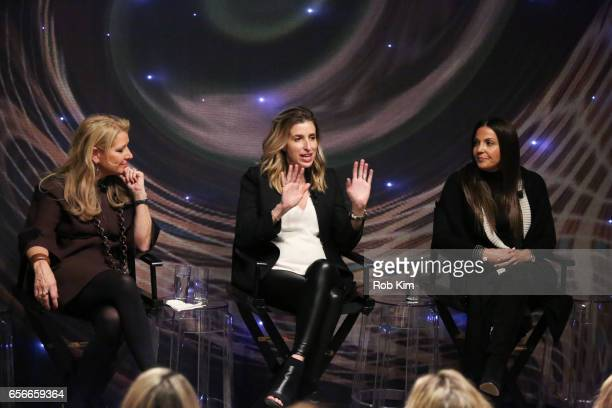 Mindy Grossman Katia Beauchamp and Lavinia Errico attend the Female Bosses celebration and BOSS BITCH book launch and interactive panel event at The...