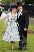 Mindy Hammond and Richard Hammond attend day 2 of Royal Ascot at Ascot Racecourse on June 15 2011 in Ascot United Kingdom