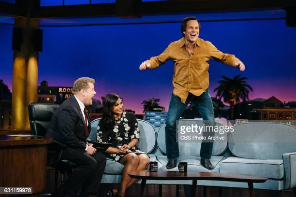 Mindy Kaling and Bill Paxton chat with James Corden during 'The Late Late Show with James Corden' Thursday February 2 2017 On The CBS Television...